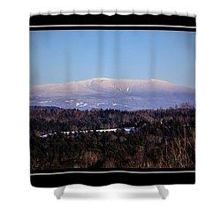 Mount Moosilauke Snowy Blanket Shower Curtain