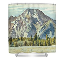 Mount Moran Shower Curtain by Edward Hopper