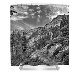 Mount Pilchuck Black And White Shower Curtain
