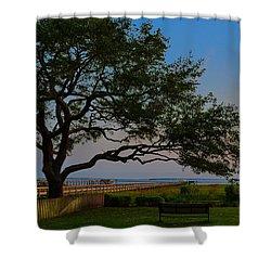 Mount Pleasant Sunset Shower Curtain