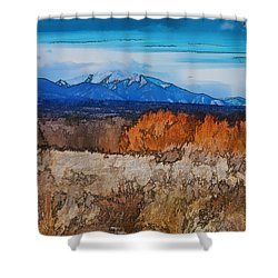 Mount Princeton Shower Curtain