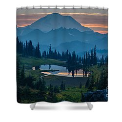 Mount Rainier Layers Shower Curtain