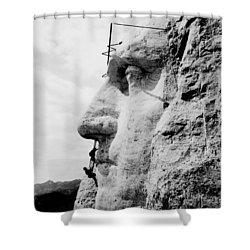 Mount Rushmore Construction Photo Shower Curtain by War Is Hell Store