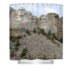 Mount Rushmore In South Dakota Shower Curtain by Clarice  Lakota