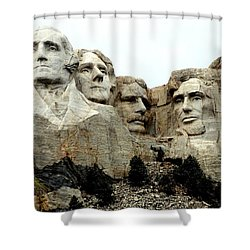 Mount Rushmore Presidents Shower Curtain by Clarice  Lakota