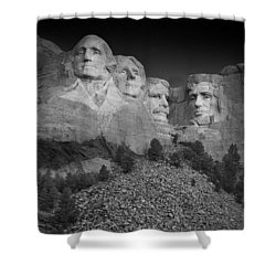 Mount Rushmore South Dakota Dawn  B W Shower Curtain by Steve Gadomski