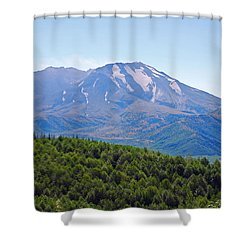Mount St. Helens And Castle Lake In August Shower Curtain
