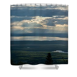 Mount Susitna Shower Curtain by Andrew Matwijec