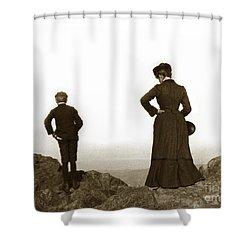 Shower Curtain featuring the photograph Mount Tamalpais Marin County California Circa 1902 by California Views Mr Pat Hathaway Archives