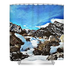 Mount Whitney Vista Shower Curtain by Glenn McCarthy Art and Photography