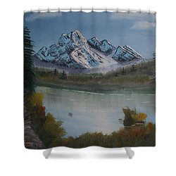 Mountain And River Shower Curtain