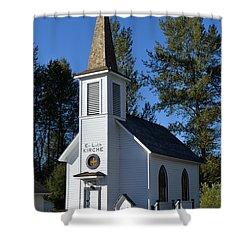 Mountain Chapel Shower Curtain