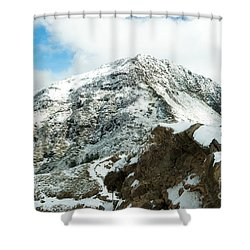 Mountain Covered With Snow Shower Curtain