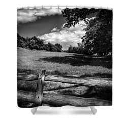 Mountain Field Shower Curtain by Bob Orsillo