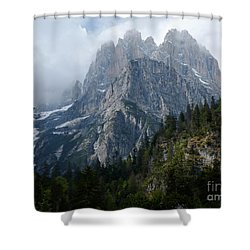 Shower Curtain featuring the photograph Spring In The Brenta Dolomites by Phil Banks