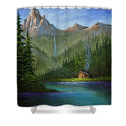 Mountain Haven Shower Curtain by C Steele