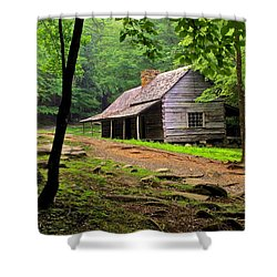 Mountain Hideaway Shower Curtain by Frozen in Time Fine Art Photography