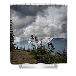 Mountain High Back Roads Shower Curtain