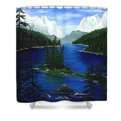 Mountain Lake Canada Shower Curtain by Patrick Witz