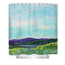 Mountain Lake Shower Curtain by Gail Kent