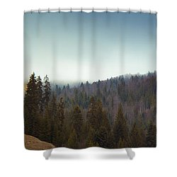 Mountain Landscape In Romania Shower Curtain
