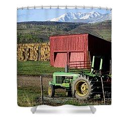 Mountain Living Shower Curtain by Fiona Kennard