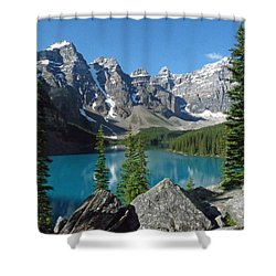 Shower Curtain featuring the photograph Mountain Magic by Alan Socolik
