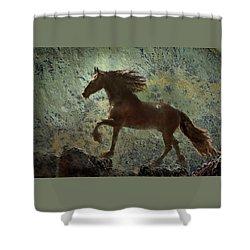 Mountain Majesty Shower Curtain by Melinda Hughes-Berland