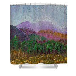 Mountain Meadow Shower Curtain by Margaret Bobb