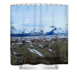 Mountain Meringue Shower Curtain