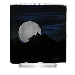 Mountain Monastery Shower Curtain