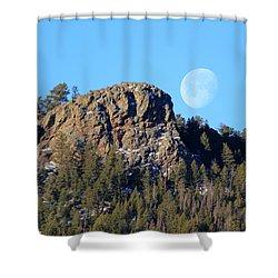 Mountain Moonset Shower Curtain