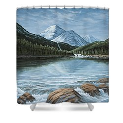 Mountain Paradise Shower Curtain