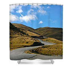 Mountain Pass Road Shower Curtain