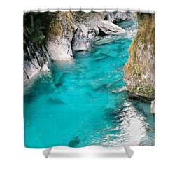 Shower Curtain featuring the painting Mountain Pool by Bruce Nutting