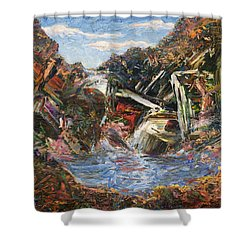 Mountain Pool Shower Curtain by James W Johnson