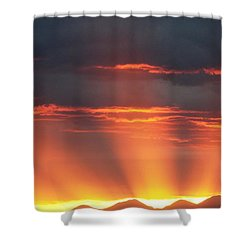 Mountain Rays Shower Curtain
