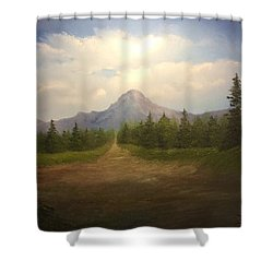 Mountain Run Road  Shower Curtain