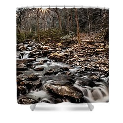 Shower Curtain featuring the photograph Icy Mountain Stream by Debbie Green