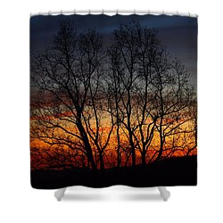 Shower Curtain featuring the photograph Mountain Sunset by Kathryn Meyer