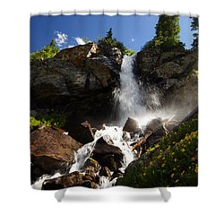 Mountain Tears Shower Curtain by Jeremy Rhoades
