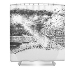 Mountain Top Shower Curtain