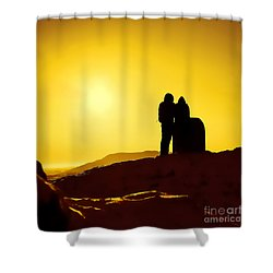 Shower Curtain featuring the photograph Mountain Top Sunset by Craig B