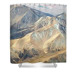 Shower Curtain featuring the photograph Mountain View 2 by Mark Greenberg
