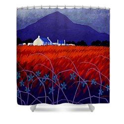 Mountain View  Shower Curtain by John  Nolan