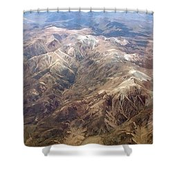Shower Curtain featuring the photograph Mountain View by Mark Greenberg