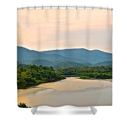 Mountain View Shower Curtain by Frozen in Time Fine Art Photography