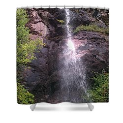 Shower Curtain featuring the photograph Mountain Waterfall by Fortunate Findings Shirley Dickerson