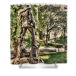 Mountaineer Statue At Lair Shower Curtain