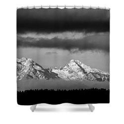 Mountains And Clouds Shower Curtain